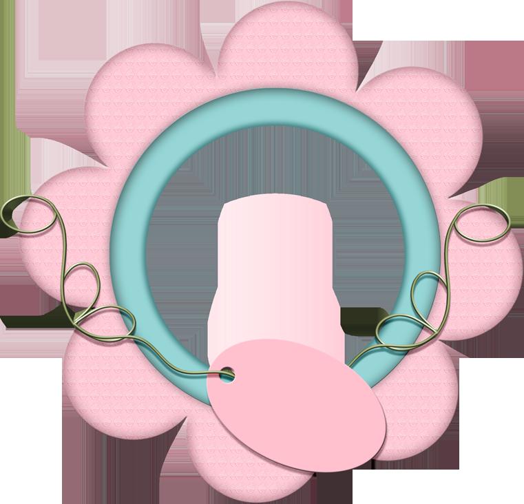 Im genes infantiles marco redondo rosa - Marcos redondos para cuadros ...