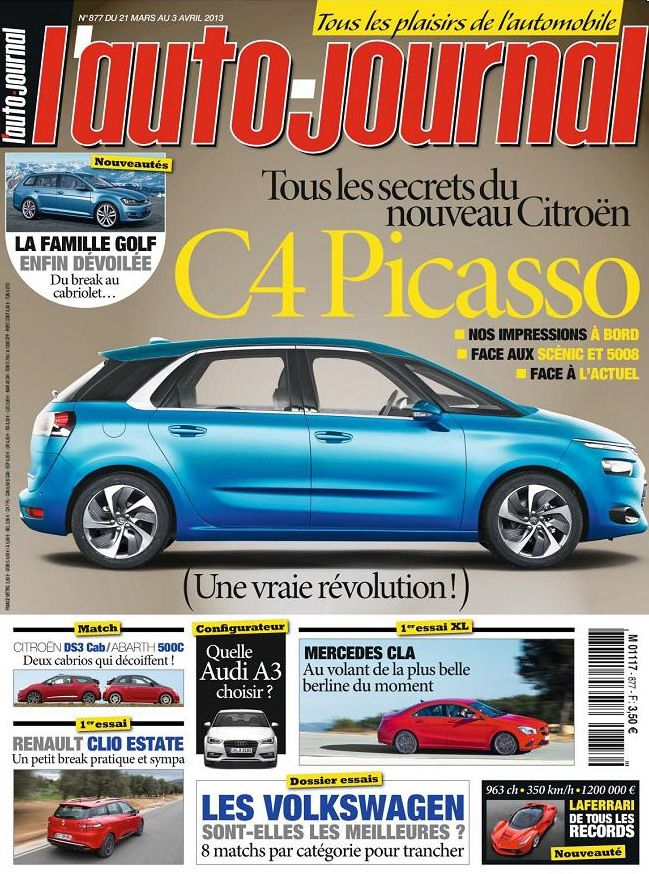l'Auto Journal N°877 du 21 Mars au 3 Avril 2013