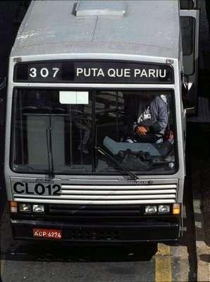 Ônibus indo pra PQP