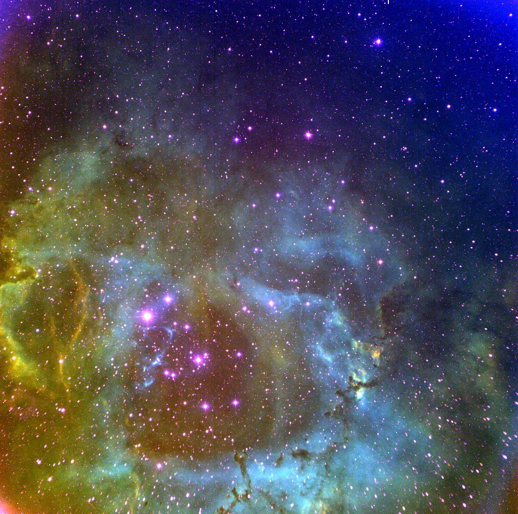 Rosette Nebula - Hubble Palette - Centre for Astronomy at NUI Galway