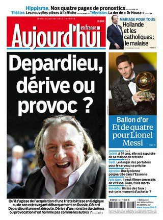 Aujourd Hui En France Mardi 08 Janvier 2013