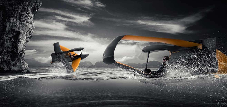 flynano01 - FlyNano, un económico hidroavión ultraligero con motor eléctrico