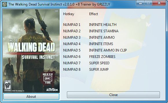 The Walking Dead: Survival Instinct v2.0.1.0 +8 Trainer [GRIZZLY]