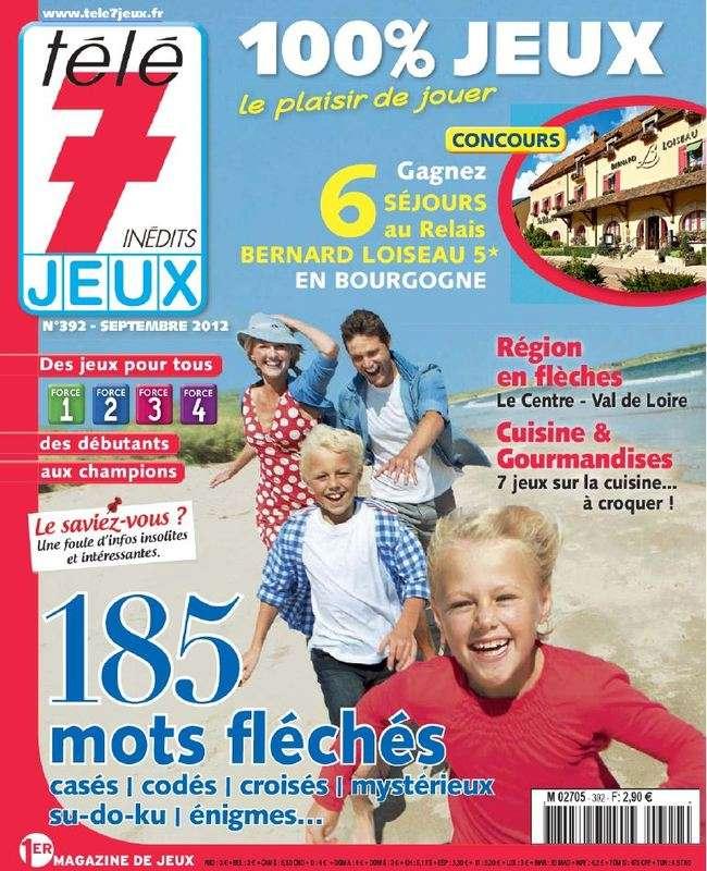 Télé 7 Jeux 392 Septembre 2012